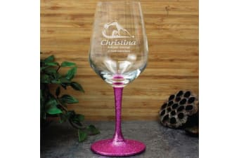 Swim Coach Engraved Personalised Wine Glass