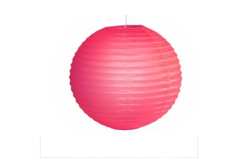 "12"" Paper Lanterns for Wedding Party Festival Decoration - Mix and Match Colours  -  FuchusiaNo"