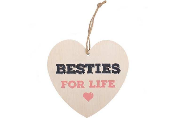 Something Different Besties For Life Hanging Heart Sign (Multicoloured) (One Size)