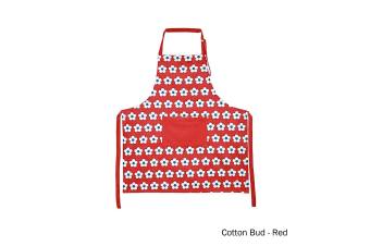 Cotton Bud Apron Red by IDC Homewares