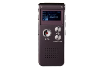 WJS 8GB Digital Voice Recorder Voice Activated Recorder with Playback Mini Audio Recorder Portable Tape Dictaphone with USB-Red