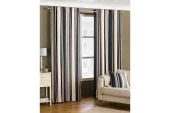 Riva Home Broadway Ringtop Curtains (Black)