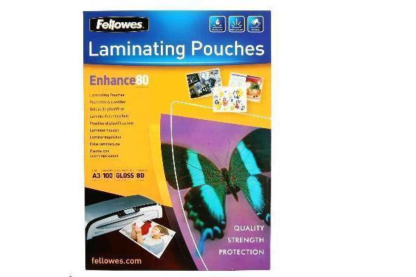 Fellowes 53062 Laminating Pouch A3 80 Micron - 100 Pack