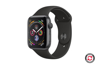Apple Watch Series 4 Refurbished (Space Grey, 44mm, Black Sport Band, GPS Only) - A Grade