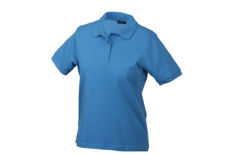 James and Nicholson Womens/Ladies Classic Polo (Aqua Blue) (XXL)