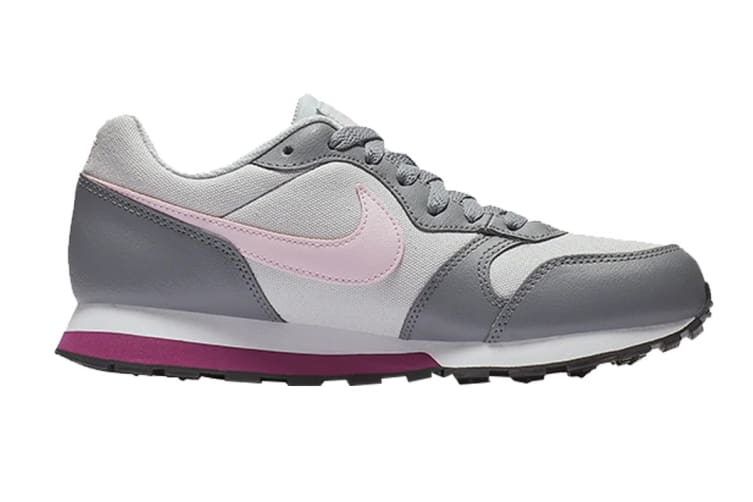 Nike MD Girls' Runner 2 (GS US) Shoe (Pure Platinum/Pink Foam, Size 5Y US)