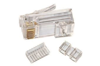 Cat 6 8 Position Rj45 Stranded Modular Crimp Plug 100 Pack