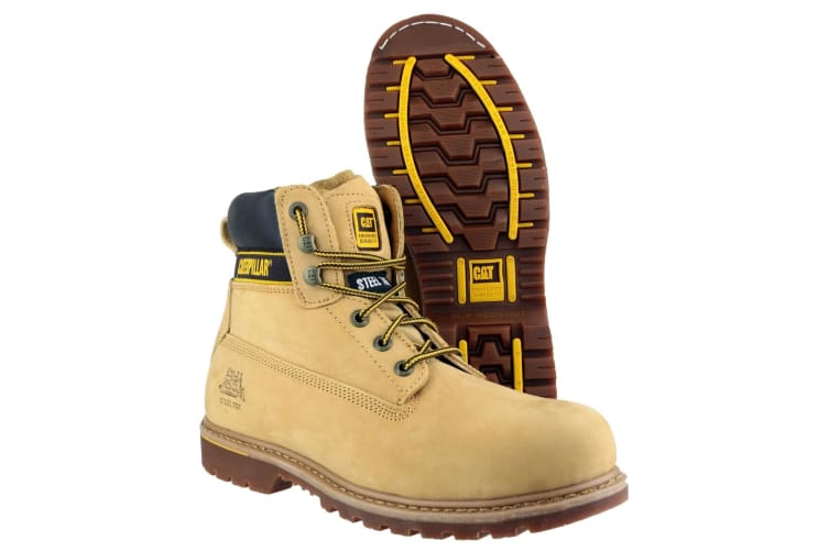 Caterpillar Holton SB Safety Boot / Mens Boots / Boots Safety (Honey) (14 UK)