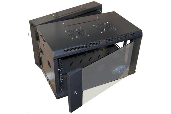 Dynamix 4RU Universal Swing Wall Mount      Cabinet. Removable Backmount supplied with Left & Right