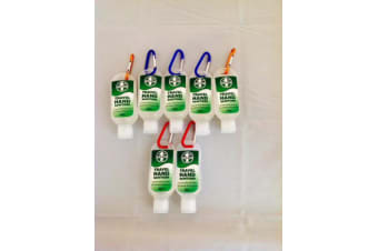 7 x Travel Hand Sanitiser Health Cleanser Gel Utility Clip Camping/ outdoors
