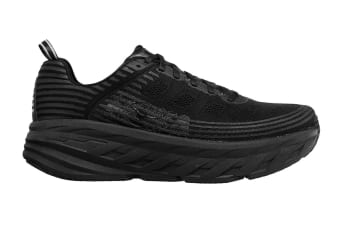 Hoka One One Women's Bondi 6 Running Shoe (Black/Black, Size 7.5 US)