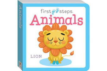 First Steps Large Board Book - Animals