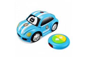 BB Junior My First RC New VW Beetle Car w/Sound/Light Kids/Toddler Toy 18m+ Blue