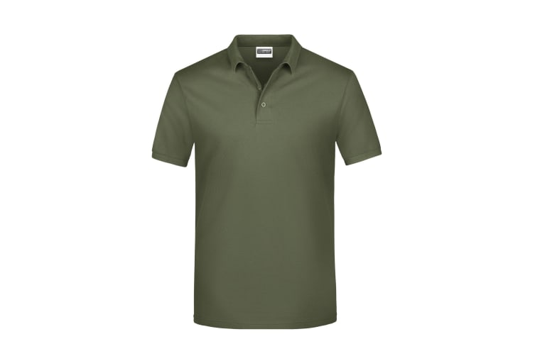 James And Nicholson Mens Basic Polo Shirt (Olive) (XXL)
