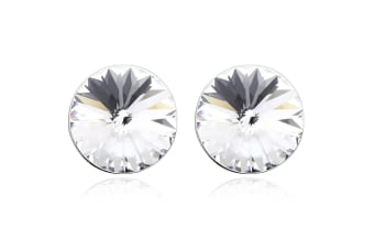 Krystal Dream Earrings w/Swarovski Crystals-White Gold/Clear