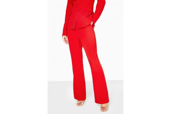 Little Mistress Womens/Ladies Charlotte Colour Block Trousers (Red) (12 UK)