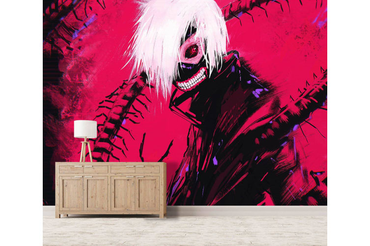3D Tokyo Ghoul 067 Anime Wall Murals Woven paper (need glue), XL 208cm x 146cm (WxH)(82''x58'')