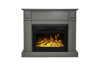 Luxo Grace 1600W Electric Fireplace Heater - Grey