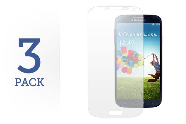 3 Pack Screen Protector for Samsung Galaxy S4