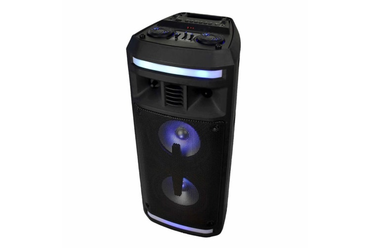 Lenoxx Bluetooth Portable Speaker 20W RMS AUX/TF Card w/ Rechargeable Battery BK