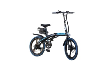 "TAOCI 350W 36V Folding Electric Bike 20"" eBike Road w/ Removable Battery Steel Frame Blue"