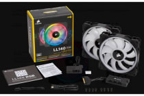 Corsair Light Loop Series, LL140 RGB, 140mm Dual Light Loop RGB LED PWM Fan, 2 Fan Pack with Lighting Node PRO