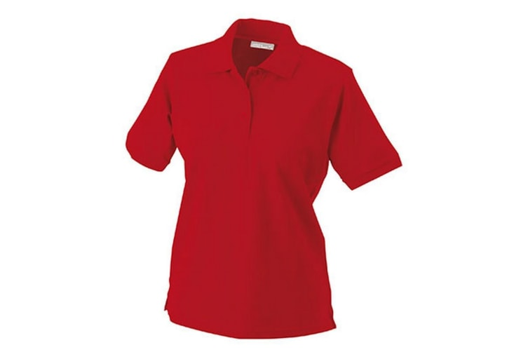 James and Nicholson Womens/Ladies Workwear Polo (Red) (XL)