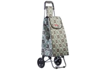 Typhoon Grand Floral Grocery Shopping Cart Trolley Portable Foldable Bag Wheels