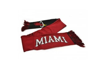 Miami Heat Official NBA Fade Scarf (Red/Black) (One Size)
