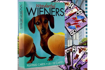 Wonderful Wieners Dachshunds Playing Cards | sausage dog dogs