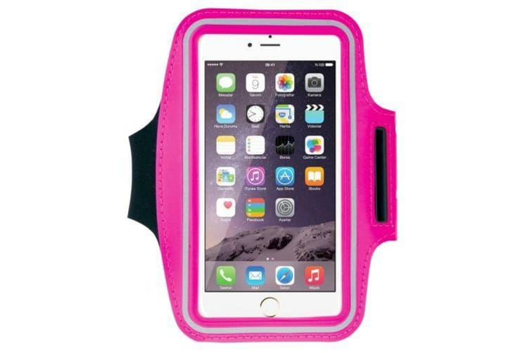 For iPhone 8PLUS/7PLUS/6PLUS Galaxy S9/S9+ Armband Sports Ultra-thin Magenta