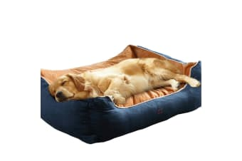 PaWz Pet Bed Mattress Dog Cat Pad Mat Puppy Cushion Soft Warm Washable XL Blue  -  Blue