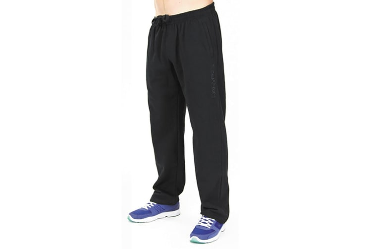 Carve Swag Mens Elastic Waist Fleece Track Pants Black M
