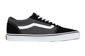 Vans Men's Ward Suede Canvas Shoe (Black/Pewter, Size 10.5 US)