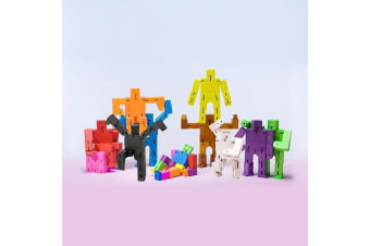 Cubebot Micro Wooden Robot Puzzle - Natural