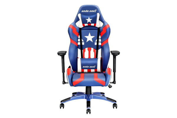 Anda Seat Ad7 19 Special Edition Large Gaming Chair Bluewhitered