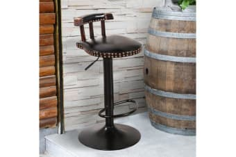 2x Retro Vintage Industrial Bar Stool Black