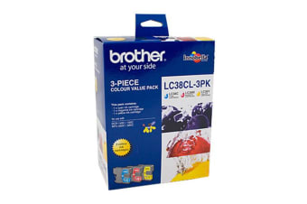 Brother LC38 Ink Cart - CMY Colour Pack