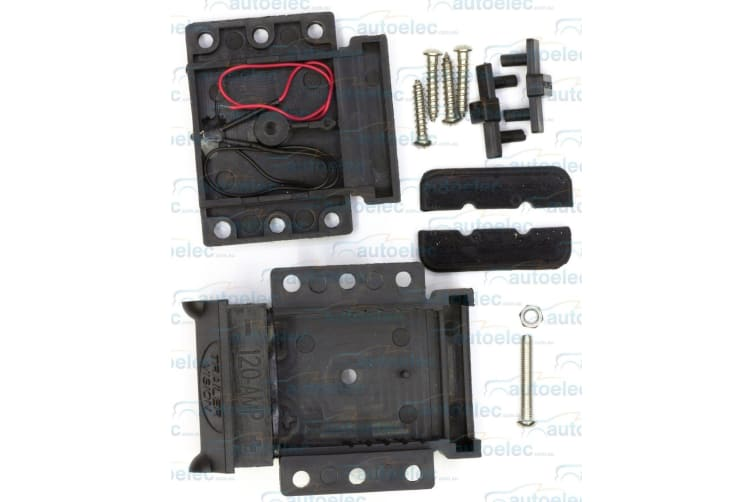 TRAILER VISION 120A AMP ANDERSON PLUG MOUNTING POWER KIT BLACK COVER ONLY NEW