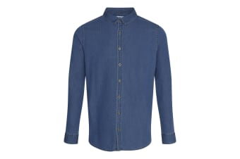 AWDis So Denim Mens Jack Denim Shirt (Dark Blue)