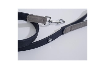 Luxury Leather Dog Lead (Navy Blue) (40in)