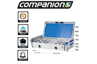 COMPANION PROPANE STOVE COOKER COOKING FOOD PORTABLE CAMPING 2 TWIN DOUBLE BURNER COMP2012