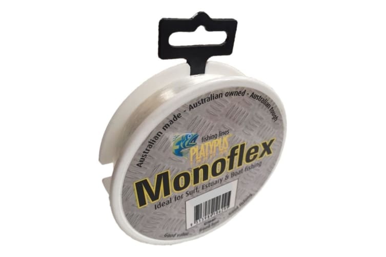 100m Spool of 60lb Clear Platypus Monoflex Mono Fishing Line - Australian Made Line