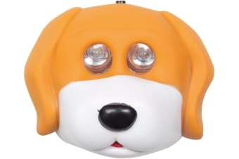 CHILDRENS KIDS CAMPING LED HEADLIGHT HEADLAMP HEAD LIGHT LAMP TORCH PUPPY 533045