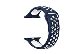 Soft Silicone Replacement Band Watch Band For Apple Watch Series 5 4 3 2 1 Watch Band for Iwatch 5 Blue White 42MM 44MM