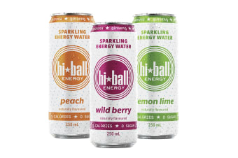 Hiball Sparkling Energy Water Mixed Pack 12 x 250ml