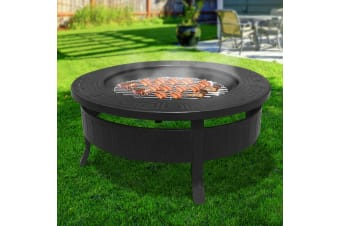 Outdoor Fire Pit BBQ Table Grill Garden Wood Oven Fireplace Ring