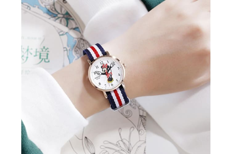 Select Mall Cute Watch Minnie Cute Quartz Watch Mickey Cartoon Waterproof Watch Suitable for Boys and Girls-Gold
