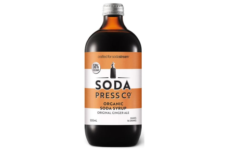 SodaStream 500ml Soda Press Organic Syrup/Mix 50% Less Sugar Ginger Ale