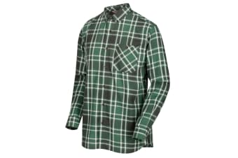 Regatta Great Outdoors Mens Lazare Long Sleeve Checked Shirt (Bayleaf) (3XL)
